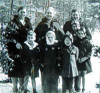 Chester Martin is front and center in this photo from the very snowy winter of  1940-41