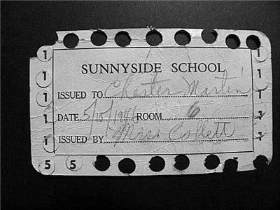 Sunnyside Elementary lunch ticket