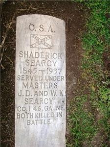 The true grave of Shaderick Searcy was uncovered at the Chattanooga Confederate Cemetery