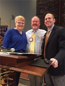 Kari Schultz, HP Club member and secretary; Todd Gaither, HP Club president; and Franklin Farrow, COO, IHP