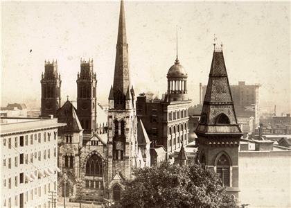 Church spires at McCallie and Georgia