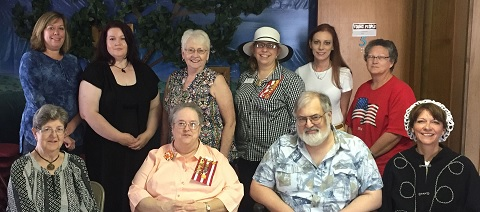 Pictured: L to R (top): Christy Peden, Andrea Akers, Peggy Morrison, Lisa Pritchett, Amy Kibble, and Anita Green; L to R (bottom): Gussie Ridgeway, Marilyn Kinne, Kevin Kinne, and Linda Ballew