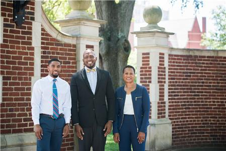 Jujuan Lewis, left, the new Student Government Association president, says the help he received from Student Support Services' Chris Stokes and Shirl Gholston, among others, is one of the reasons he has done well at UTC