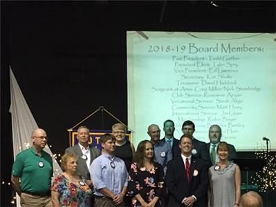 2018/2019 Rotary Club of Chattanooga Hamilton Place board of directors