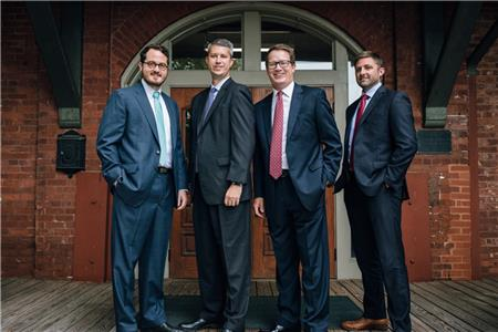 From left, Jon Paul Davis, Adam Osborne, Will Clegg and Branden Wilson are then four new partners in the Henderson Hutcherson & McCullough Chattanooga office