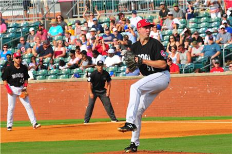 Right hand pitcher Sean Poppen may be the most improved Lookouts hurler of the second half.